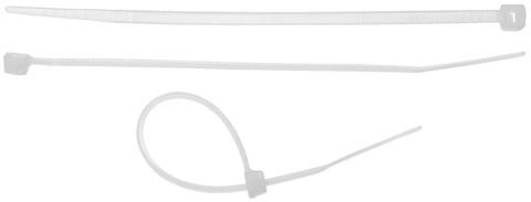 Хомуты-стяжки белые, 2.5 х 150 мм, 75 шт, нейлоновые, STAYER Professional