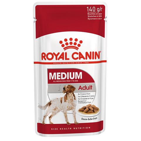 ROYAL CANIN Консервы в соусе для взрослых собак средних пород MEDIUM Adult 140 гр.