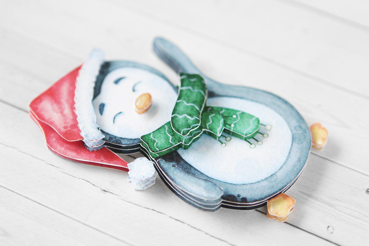 Пингвинёнок, готовая работа, вид сбоку