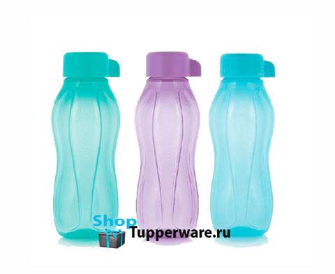 Бутылка Эко мини 310 мл-3шт разноцветные