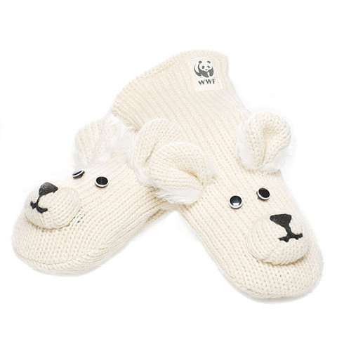 Картинка варежки Knitwits Pee Wee the Polar Bear  - 1