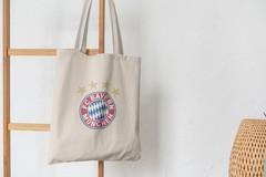 Сумка-шоппер с принтом FC Bayern München (ФК Бавария) бежевая 003
