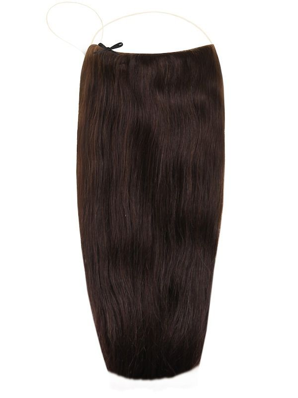 Волосы на леске Flip in- цвет #2- темный шоколад