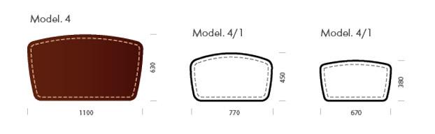 Форма и размер бювара модель 4 - схема.