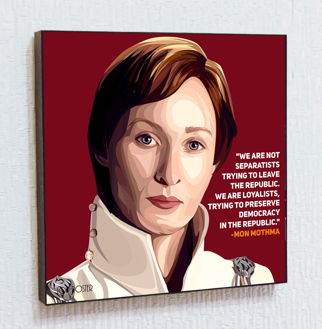 Купить картину Мон Мотма в стиле ПОП АРТ Звездные войны STAR WARS