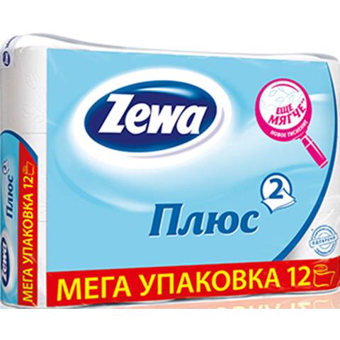 Бумага туалетная ZEWA Plus белая 12 рул РОССИЯ