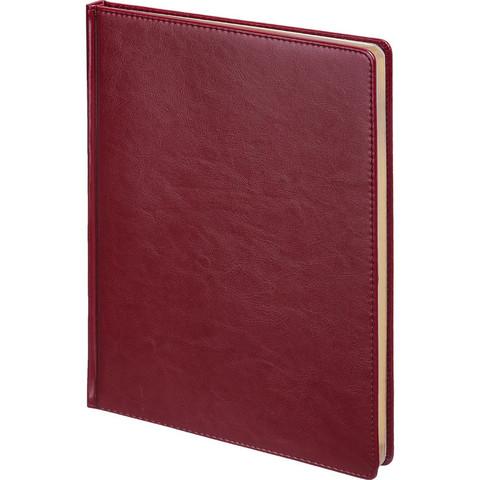 Ежедневник недатированный Альт Sidney Nebraska искусственная кожа А4 136 листов бордовый (золотистый обрез, 210x300 мм)
