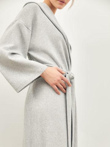 Женский кардиган серого цвета из вискозы - фото 5