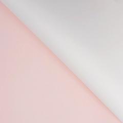 Пленка для цветов матовая двухсторонняя, Персиковая/Белая, 60*60 см, 10 листов, 1 уп.
