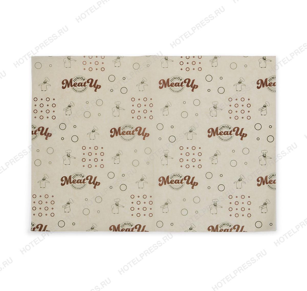 Упаковочная пергаментная бумага мясного ресторана MEAT UP