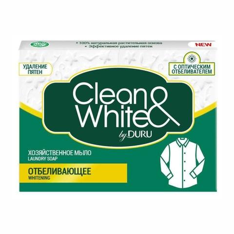 Мыло хозяйственное DURU Clean White Отбеливающее 4*125 г МАЛАЙЗИЯ