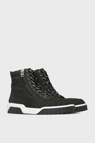 Мужские черные кожаные хайтопы LE RUA Diesel