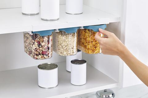 Набор из 3 подвесных контейнеров для хранения CupboardStore 1,3 л темный опал