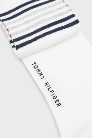 Мужские белые носки (2 пары) TH MEN QUARTER BRETON STRIPE Tommy Hilfiger
