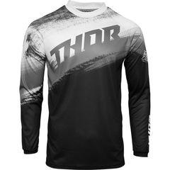 Джерси для мотокросса Thor Vapor черно-белое размер L