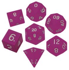 Набор розовых разногранных металлических кубиков