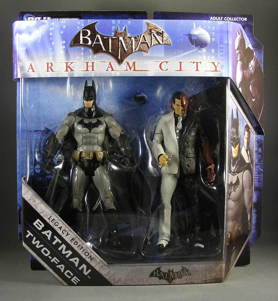 Бэтмен Аркхем сити фигурки Бэтмен и Двуликий — Batman Arkham City Batman & Two-face