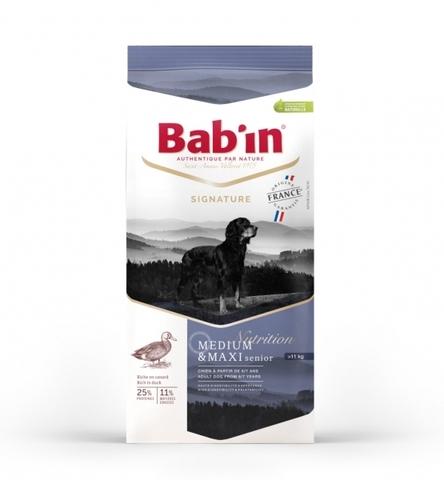 SIGNATURE MEDIUM & MAXI SENIOR (для взрослых собак средних и крупных пород от 6/7 лет на основе утки, курицы и свинины, гранулы 16-18 мм, 25/11) 4 кг