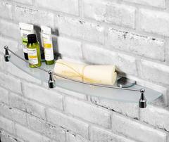 Полка в ванную WasserKRAFT Kammel K-8344 стеклянная с бортиком