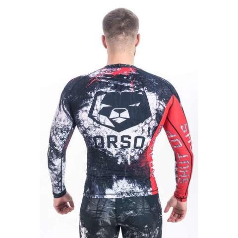 купить рашгард мужской orso с длинным рукавом для фитнеса единоборств занятий спортом