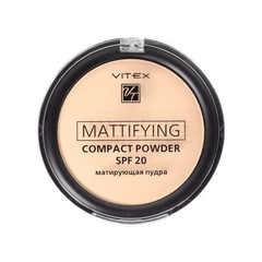Матирующая компактная пудра для лица VITEX Mattifying Compact Powder SPF 20, тон 03 Soft Beige