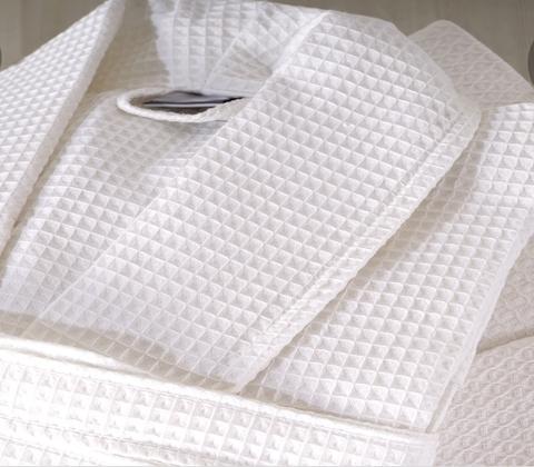 Вафельный мужской халат белый  NUSA Турция