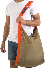 Сумка складная Ticket to the Moon Eco Bag Large (30л.) Brown/Orange