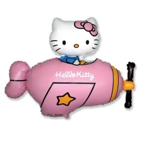 FM Фигура гр.4 И-339 Hello Kitty в самолёте 77см X 92см