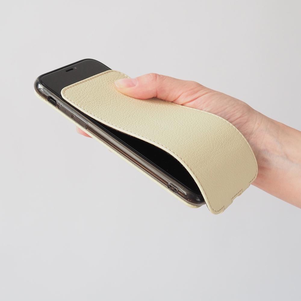 Чехол для iPhone 11 из натуральной кожи теленка, молочного цвета