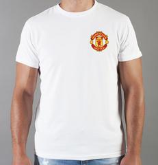 Футболка с принтом FC Manchester United (ФК Манчестер Юнайтед) белая 0015