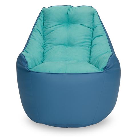 Бескаркасное кресло «Босс», Синий и голубой