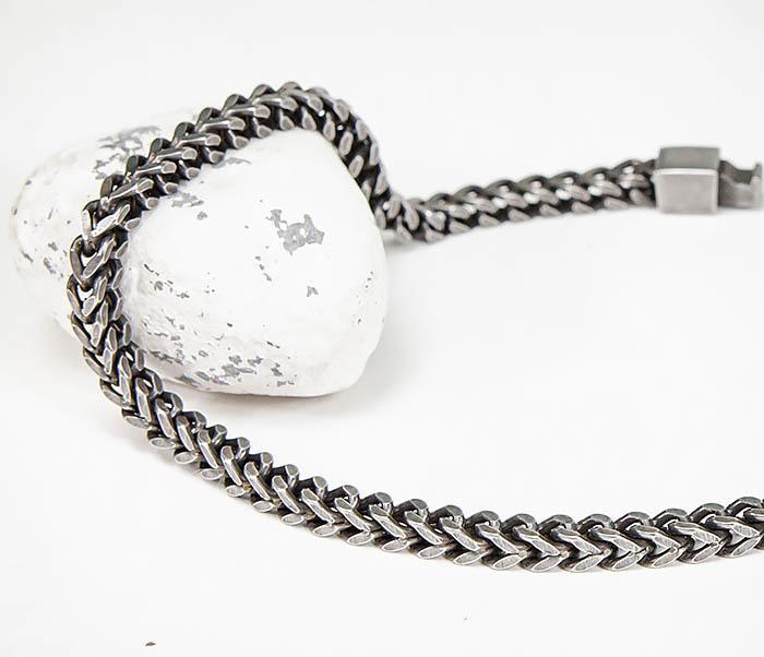 BM578 Тонкий браслет цепочка квадратного сечения фото 03