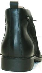 Мужские кожаные зимние ботинки из натуральной кожи Luciano Bellini 6057-58K Black Leathers & Nubuk.