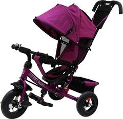 Детский трёхколёсный велосипед с ручкой ( фиолетовый ) Sweet baby - колёса надувные