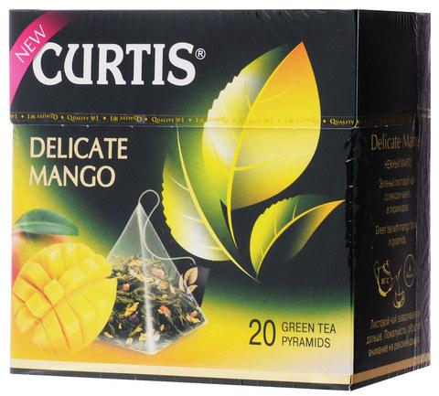 """Чай зеленый """"Curtis"""" Delicate Mango 20 пирамидок"""
