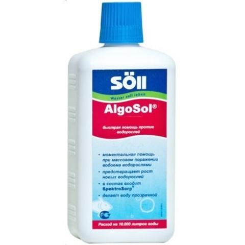 Препарат для борьбы с водорослями в пруду Soll AlgoSol 500ml