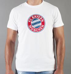 Футболка с принтом FC Bayern Munchen (ФК Бавария) белая 007