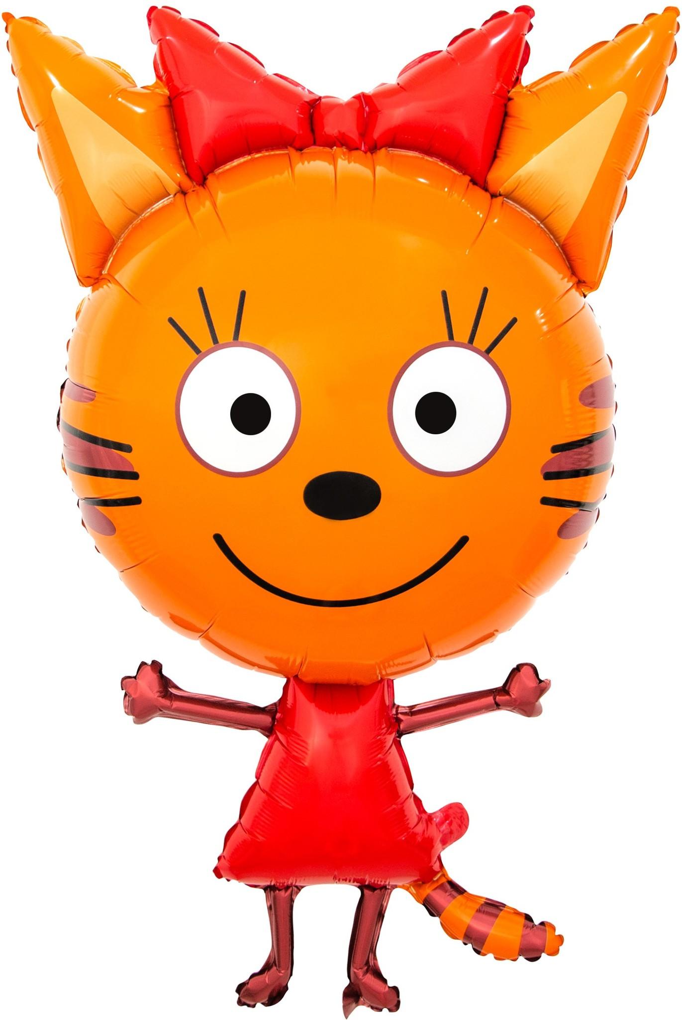 Фольгированный шар Фигура, Три Кота, Карамелька, 1 шт, 34х86 см