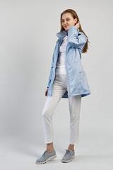 Ветровка-плащ женская голубой