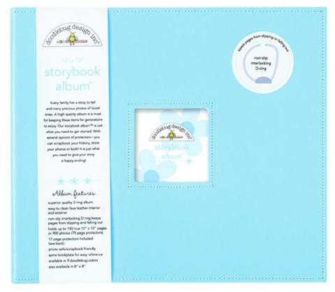 Уценка! Папка на кольцах для Project Life 30х30 Doodlebug Storybook Album - экокожа
