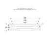 Размеры рамки TWT8101 для встраиваемого монтажа светодиодного указателя ESC-81