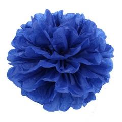 Помпон из бумаги 20 см, темно-синий