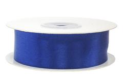 Лента атласная, Синий, 25 мм * 22,85 м