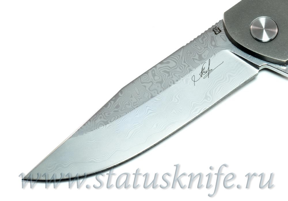 Нож Чебуркова Волк Дамаск - фотография