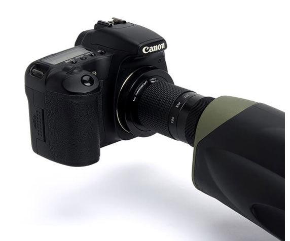 Подключение фотокамеры к зрительной трубе Ultima 100 Straight