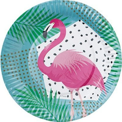 Тарелка бум Фламинго 17см 6шт/G
