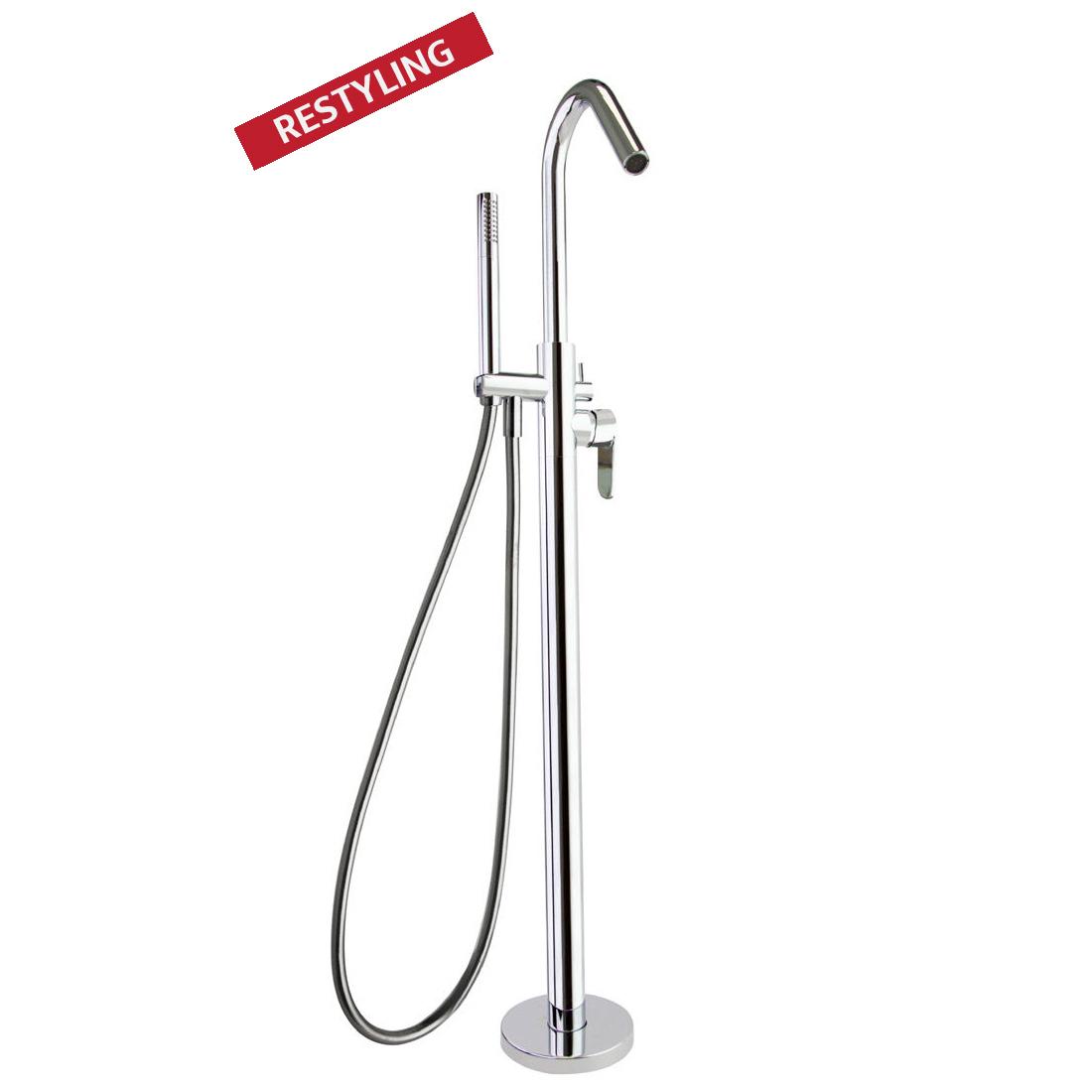 Напольный смеситель для ванны с душевым комплектом ALEXIA 368503MO