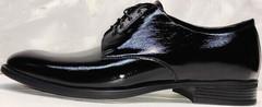 Мужские классические туфли на выпускной лакированные Ikoc 2118-6 Patent Black Leather.