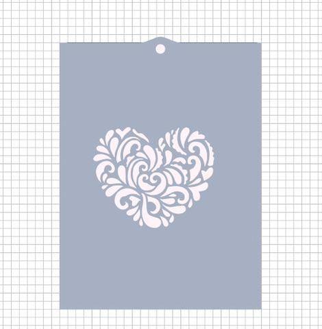 Трафарет №414 - Сердце узор