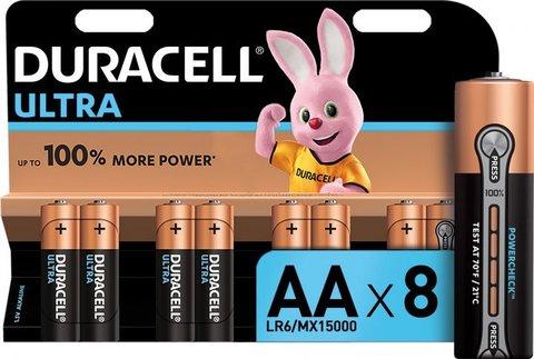 Батарейки Duracell Turbo/Ultra LR6, AA (8/96) BL